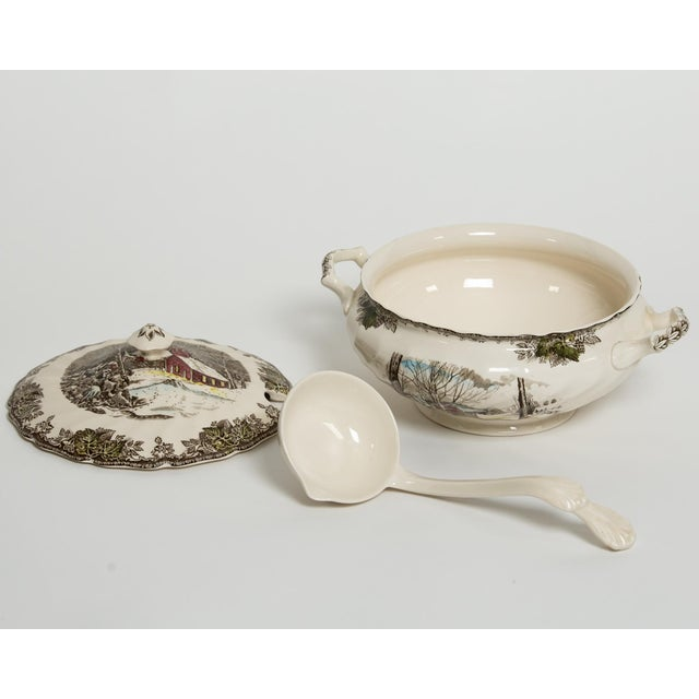 Soup Tureen Friendly Village Set by Johnson Brothers - Image 3 of 5