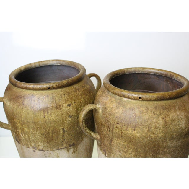 2000 - 2009 Rustic Aluminum Urns - a Pair For Sale - Image 5 of 7