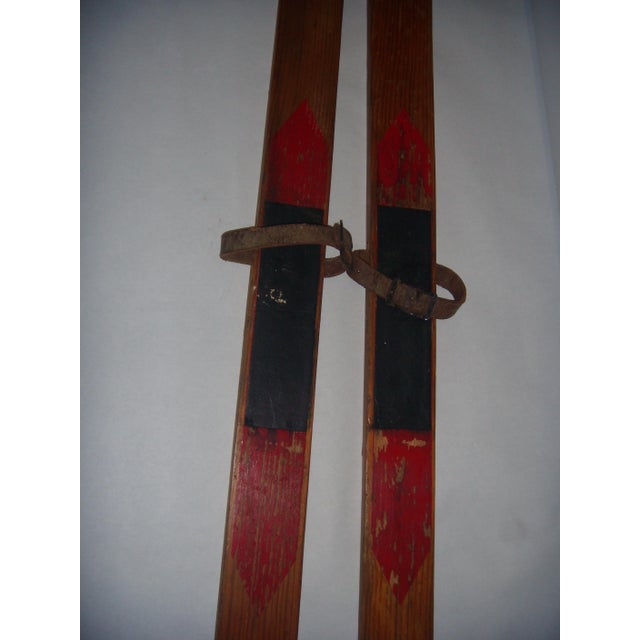 Vintage Wood Child's Skis - A Pair - Image 5 of 7
