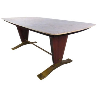 Borsani Style Marble-Top Dining Table For Sale