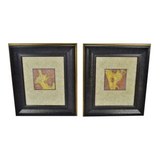 Vintage Framed Queen Anne's Lace Decorative Arts Inc. Wall Art - a Pair For Sale