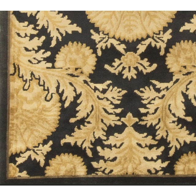 Black and Gold Hand-Knotted Wool Rug - 8' X 10' - Image 4 of 4