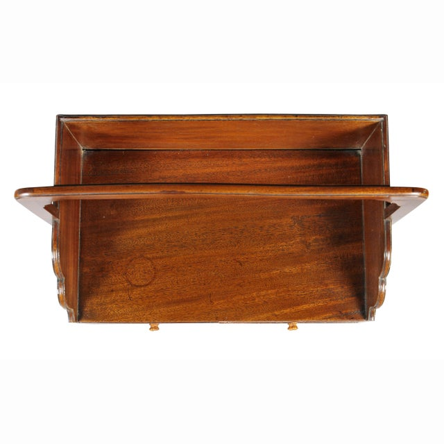 Traditional George III Mahogany Book Carrier For Sale - Image 3 of 8