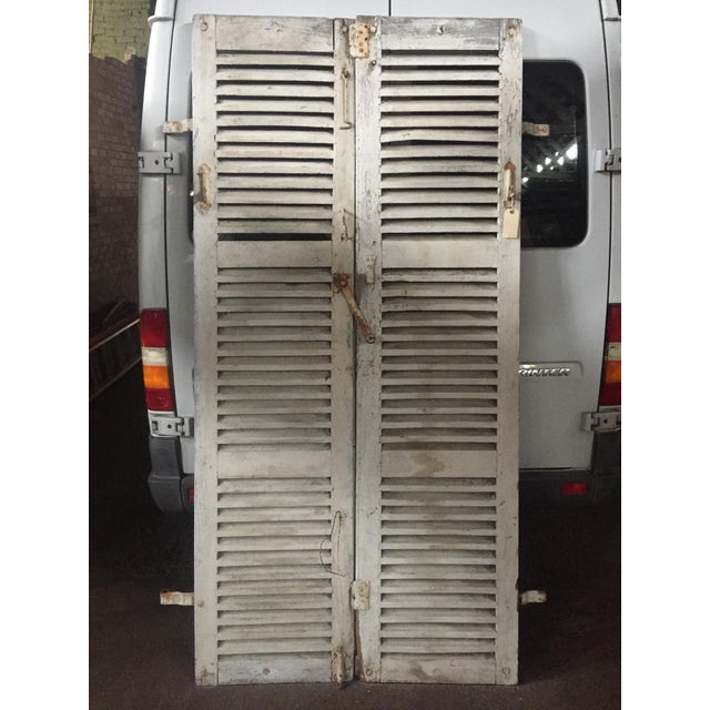 Antique French Shutters - a Pair For Sale - Image 11 of 13