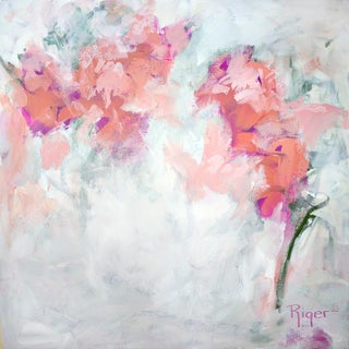 """""""Isn't She Lovely"""" Contemporary Abstract Floral Acrylic Painting For Sale"""