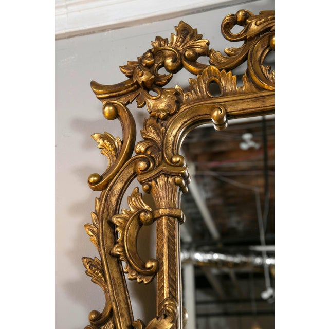 Chippendale-Style Giltwood Carved Mirrors - A Pair For Sale - Image 4 of 8