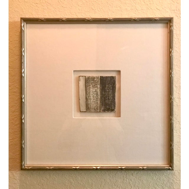 Small Matted Painting #1 With Silver Leaf Frame by Allen Kerr For Sale - Image 4 of 4