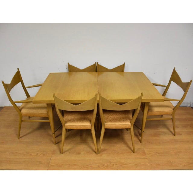 Metal Dining Table and Chairs by Paul McCobb - Set of 7 For Sale - Image 7 of 13