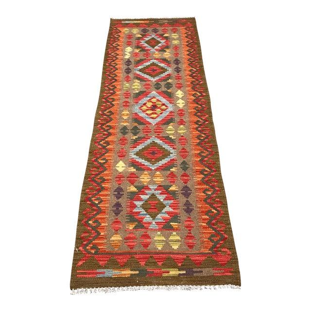 """Vintage Pakistani Kilim - 2'1"""" x 6'8"""" - Image 1 of 10"""