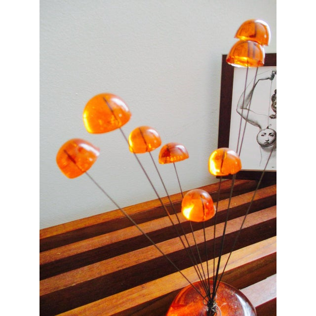 Orange Lucite Abstract Sculptural Kinetic Sculpture - Image 9 of 10