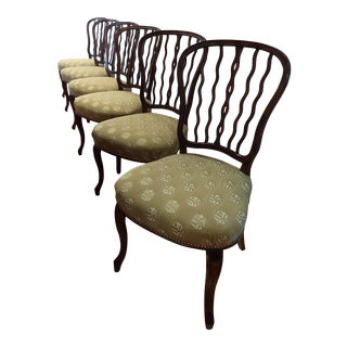 Late 20th Century Traditional Theodore Alexander Solid Wood Chairs - Set of 6 For Sale