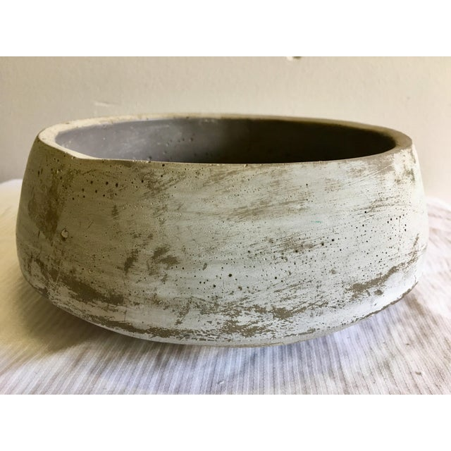Boho Chic Vintage Decorative Rustic Gray Bowl For Sale - Image 3 of 8