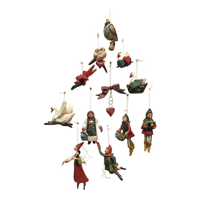 12 days of christmas house of hatten ornaments set of 12 - 12 Days Of Christmas Ornament Set