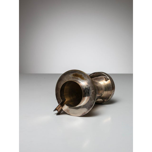 Modern Silverplated Postomodern Pitcher For Sale - Image 3 of 5