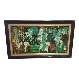 Mid Century Modern Oil Painting Abstract For Sale