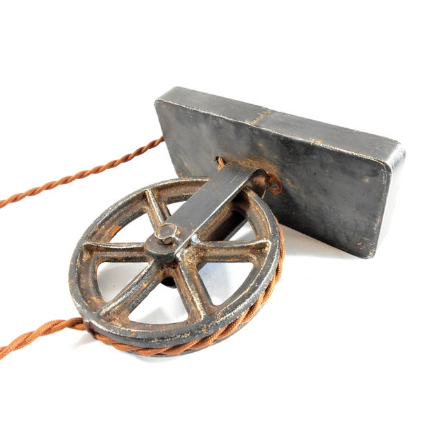 Industrial Factory Wheel Sconce Lamp – Large Size - Image 3 of 6