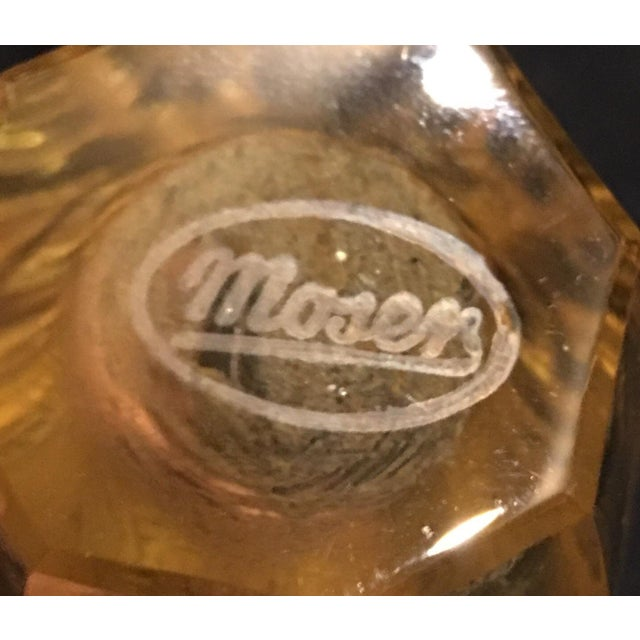 Moser Etched Crystal Bud Vase Chairish