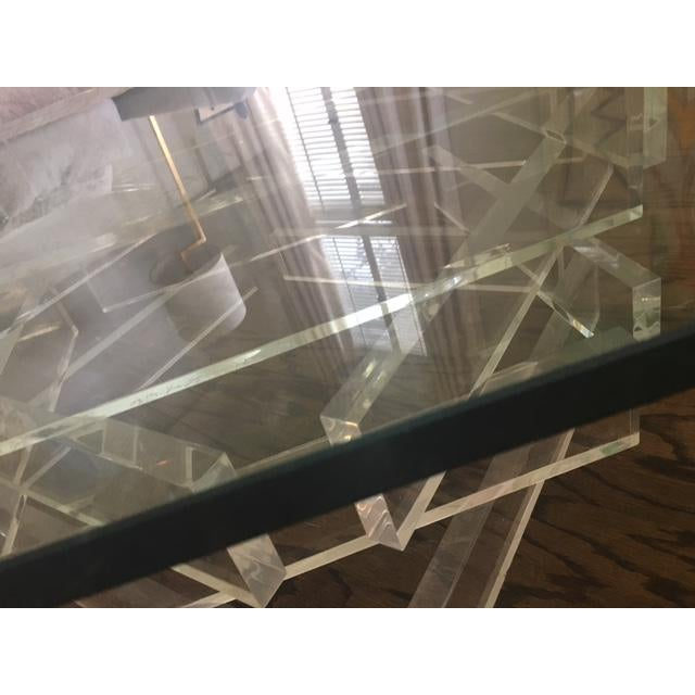 Lucite 'Brick' Coffee Table - Image 5 of 7