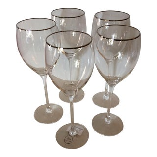 Lenox Timeless Platinum Signature Wine Glasses - Set of 5 For Sale