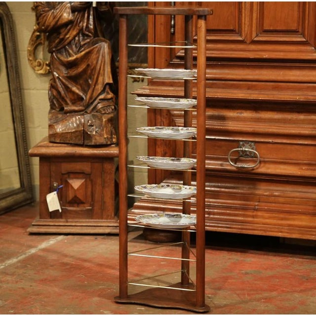 French 19th Century French Louis Philippe Walnut Plate Rack For Sale - Image 3 of 9