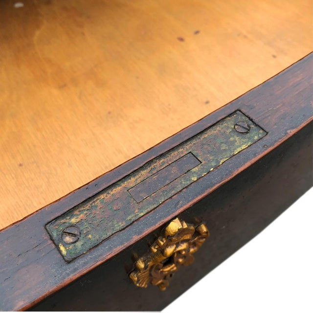 Antique French Rocono Burl Mahogany Partners Desk Library Table W/ Brass Ormolu For Sale - Image 6 of 9