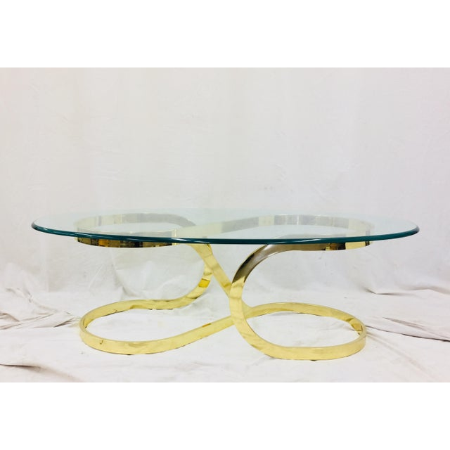 """Abstract Vtg Modern Milo Baughman """"Ribbon Candy"""" Coffee Table For Sale - Image 3 of 13"""