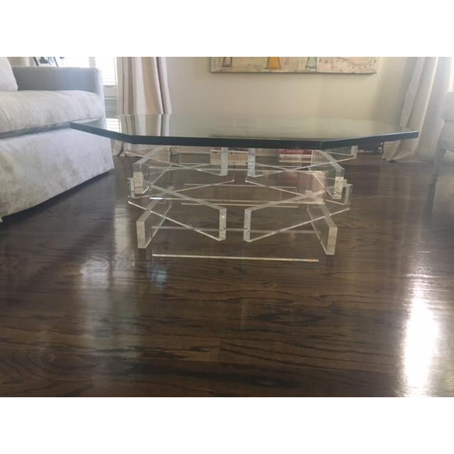 Lucite 'Brick' Coffee Table - Image 7 of 7