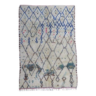 Vintage Abstract Moroccan Rug For Sale
