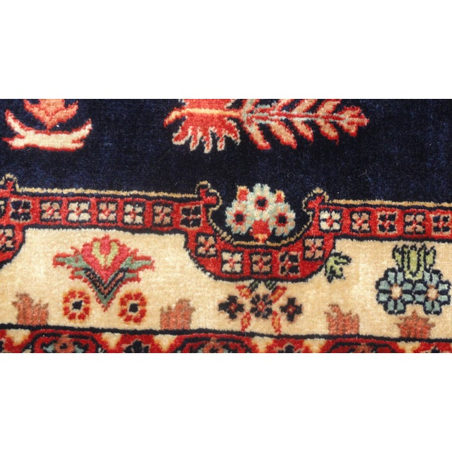 """Traditional Indian Sarouk Runner Rug - 9'10"""" x 2'10"""" For Sale - Image 3 of 5"""