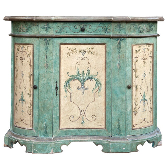 Italian Hand Painted Cabinet For Sale - Image 10 of 10