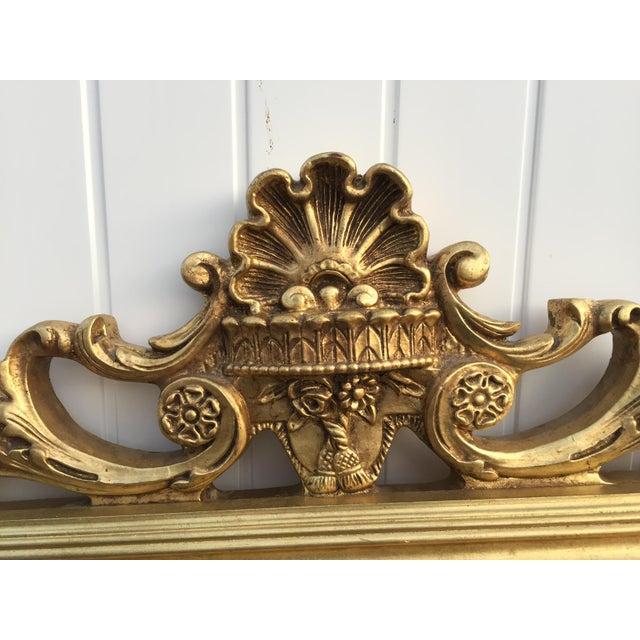 Hollywood Regency Very Large Gold Gilt Framed Clock With Shelves - Image 3 of 7