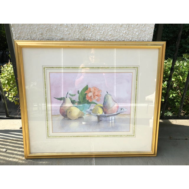 Contemporary Still Life Watercolor of Fruit For Sale - Image 3 of 10