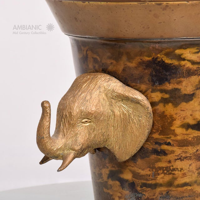 Hollywood Regency Elephant Ice Bucket For Sale In San Diego - Image 6 of 8