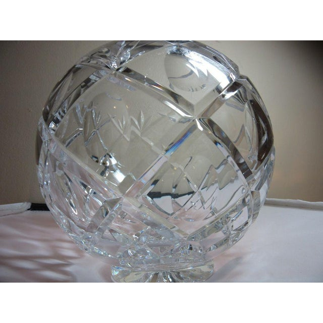Clear Cut Crystal Rose Bowl Vase - Image 6 of 10