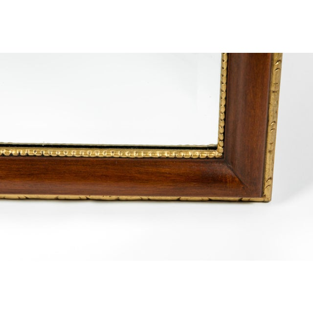 Gold Vintage Mahogany Wood Framed Hanging Wall Mirror For Sale - Image 8 of 10