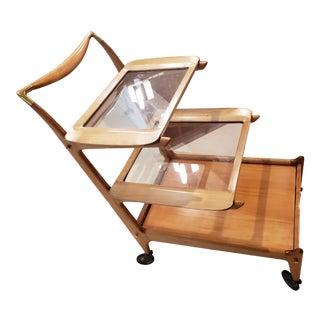 1950 Brazilian Caviuna Wood Tea Cart For Sale