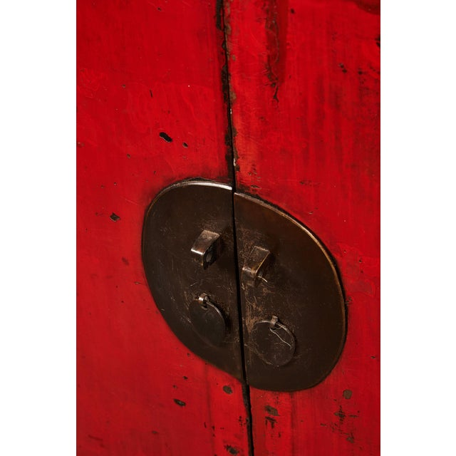 18th Century Chinese Pair of Two Door Cabinets For Sale In Los Angeles - Image 6 of 10