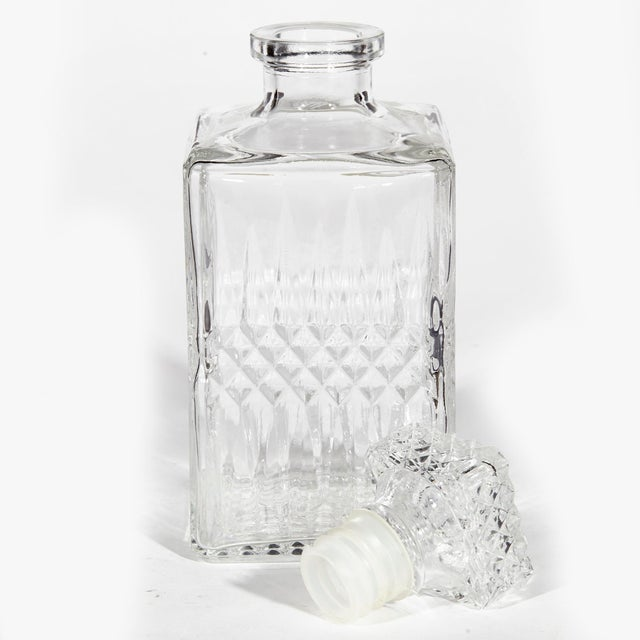Mid-Century Modern 1960s Square Glass Decanter For Sale - Image 3 of 5