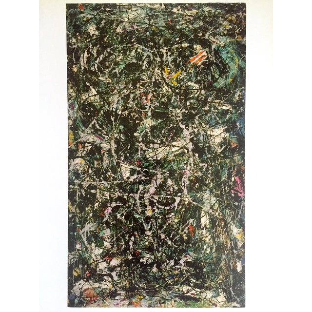 """Jackson Pollock Foundation Abstract Expressionist Collector's Lithograph Print """" Full Fathom Five """" 1947 For Sale - Image 10 of 12"""