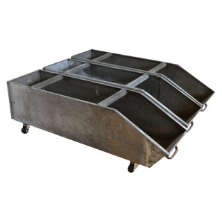 Storage Bins on Wheels From Wonder Bread Bakery, Industrial Steel, Set of 3 For Sale