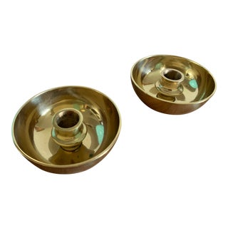Vivianna Torun Bülow-Hübe Brass Candle Holders, for Dansk International Design - a Pair For Sale