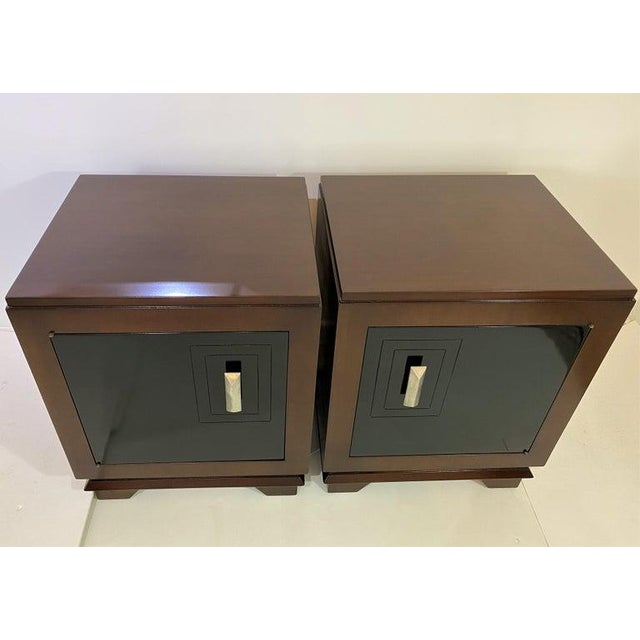1930s French Art Deco Moderne Night Stands - a Pair For Sale - Image 13 of 13