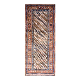 """Antique Caucasian - Ganjeh Rug 3'6"""" X 8'4"""" For Sale"""