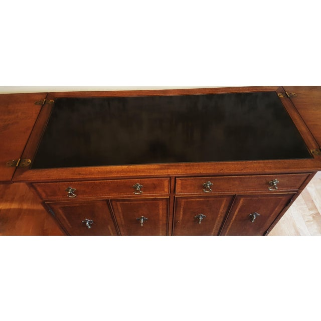 Mid-Century Henredon Folio Four Rolling Buffet For Sale - Image 9 of 11