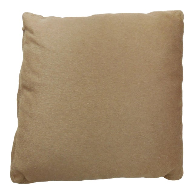 """Wool Mohair Coach 18"""" Square Pillow For Sale"""