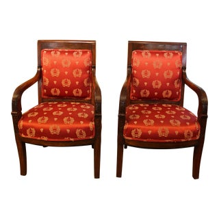 Pair of Empire Fauteuils, French For Sale