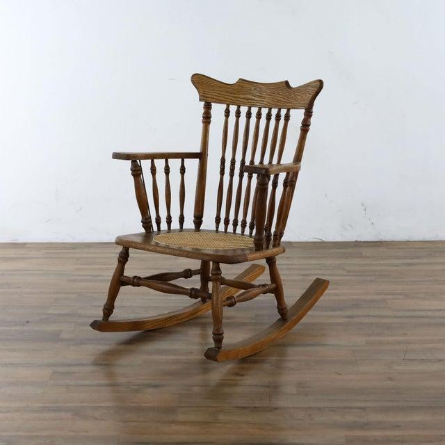 Cane seat. Dimensions (in): 26.0 W x 33.0 D x 34.0 H.