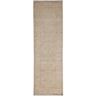 """Oushak Hand Knotted Runner - 2'6"""" X 8'1"""" For Sale"""
