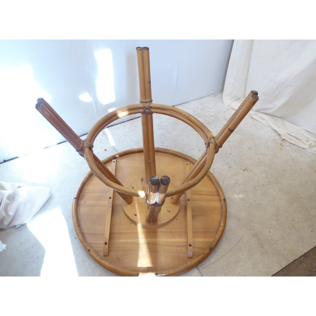 Mid 20th Century Vintage Heywood Wakefield Round Side Table For Sale - Image 5 of 6