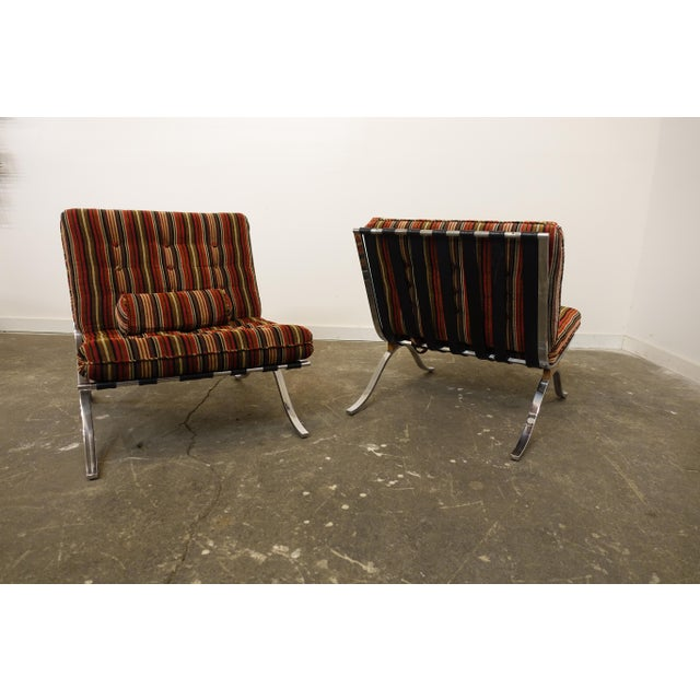 Modern Mid Century Modern Selig Chairs- a Pair For Sale - Image 3 of 7
